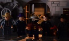 The Rival: Part 1 (Andrew Cookston) Tags: edwardclariss lego dc comics dccomics flash theflash jaygarrick therival bank keystone city robbery gangsters mob goldenage classic christo christo7108 moc photoshop custom minifig stilllife toy macro photography andrewcookston