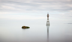 Buoy (Grant Morris) Tags: waterscape waterfront water longexposure bouy rocks greysky greyclouds reflection smoothwater grantmorris grantmorrisphotography scotland canon 24105 nd nd10