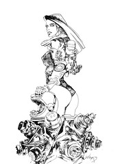 ART-116-warhead-b&w (whisperstudio) Tags: eddiewilson brokentoys eddiewilsonart eddiewilsonartist eddiewilsonpresents whisperstudio scifiart steampunkart steampunk steampunkconceptart sketches scienceadventures fantasyart fantasyartsketches darkart doclazarus drlazarus doctorlazarus blackandwhiteart comicart conceptart c