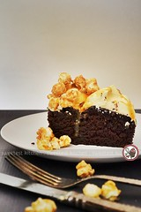Salted Caramel Popcorn Chocolate Cake (jamieanne) Tags: salted saltedcaramel caramel popcorn caramelpopcorn chocolate chocolatecake wackycake cake