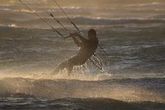 Kiteboarding at Dillon Beach - 4 (fksr) Tags: kiteboarding kitesurfing dillonbeach tomalesbay marincounty california waves sport action sunset