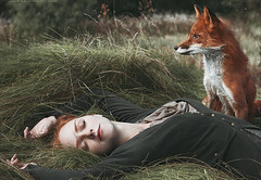 Girl & Fox (alexandra_bochkareva) Tags: portrait wonderland sensual fox girl redhead
