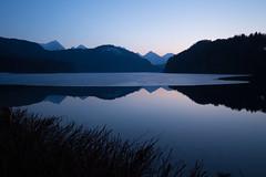Alpseebad Hohenschwangau ([ raymond ]) Tags: brush cold dusk evening frozen germany ice lake mountains silhouette twilight winter img3244 alpseebadhohenschwangau