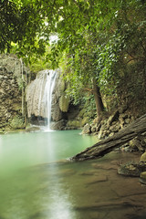 Waterfall in the Wood (SedatPhotography) Tags: holiday sstunning landscape waterfall wood green reflection canon 5d mk ii iv turquoise blue turqoise sightseeing thailand holidays destinations stunning trees trunk