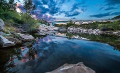 L'Orb et le pont de Rals, Murviel les Bziers (cristgal56) Tags: hrault languedocroussilon pont rivire reflet coucherdesoleil