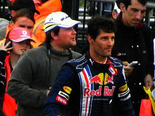 Mark Webber at the 2009 British Grand Prix