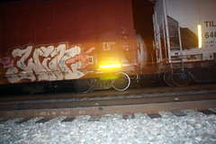 win (No Real Name Given.) Tags: art night train bench graffiti rail moms boxcar win wins freight lords