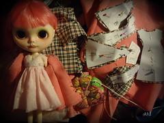 flared coat pink tartan