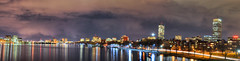 Boston Skyline (pmank) Tags: city longexposure sky panorama boston night clouds ma nikon massachusetts charlesriver esplanade massave d5000 nikond5000