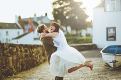 . (joannablu kitchener) Tags: blue wedding love happy groom bride evening scotland nikon couple happiness romantic anstruther d700 kitchenerphotography