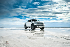 Ford Raptor SVT (Folk|Photography) Tags: blue sky white ford clouds lens utah teams angle offroad 4x4 wide salt sigma special flats raptor vehicle bonneville svt worldcars