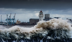 Bit Choppy Today (Lee Carus) Tags: new lighthouse storm liverpool docks october brighton sony 7 mersey nex