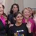 UN Women Executive Director Michelle Bachelet and US Secretary of State Hillary Rodham Clinton visit the textile production and trade center of Gamarra in Lima, Peru, where both had the opportunity to talk with women entrepreneurs on 16 October