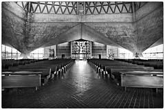 Saint Mary's Cathedral (San Francisco) (XVIII) (manuela.martin) Tags: sanfrancisco california blackandwhite bw usa architecture sfo architektur kalifornien nervi contemporaryarchitecture modernearchitektur belluschi pietrobelluschi saintmaryscathedral pierluiginervi schwarzundweis