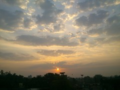 Sunrise from my terrace from Sony Xperia p mobile