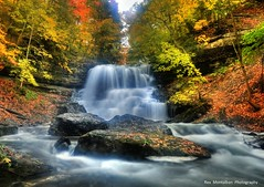 decew the lower falls in autumn colours (Rex Montalban Photography) Tags: autumn waterfalls hdr pseudo hss decew photomatix rexmontalbanphotography sliderssunday