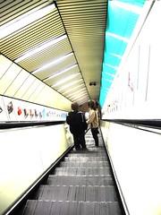Love on an escalator (originalimac) Tags: love metro escalator young laminar