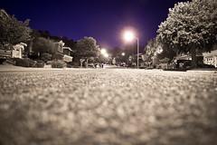 Unintentional Monochrome (Keeohno) Tags: street longexposure blackandwhite night canon streetlights sigma neighborhood 1750 suburb almaden t3i