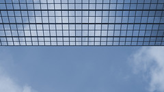 ceiling (kayun1) Tags: blue sky hk cloud reflection grid hongkong nikon d70 14 85mm sunny ceiling line hong kong wan tsuen