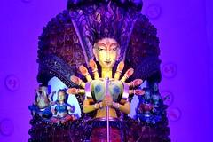 Durga Puja, Kolkata 2012 (Biswajit_Dey) Tags: portrait woman india festival nikon artist culture tradition custom kolkata bengal puja bangla durgapuja westbengal goddessdurga clayidols d3100 durgapuja2012
