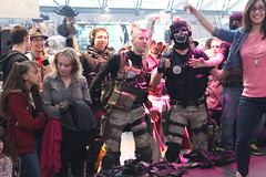 Commandos dancing over Britney's Hit Me Baby One more Time (elPadawan) Tags: brussels belgium cosplay 2011 tourtaxis 11021111businesstriptobrussels 1105japanexpo