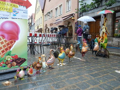 Rothenburg ob der Tauber, Germany, Follow Mother Goose for Some Ice Cream (lalobamfw (thanks for 600,000+ views)) Tags: sculpture art germany ducks ob der rothenburg mothergoose tauber thegalaxy bej abigfave blinkagain