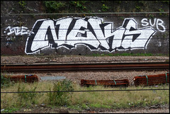 Neks 1T (Alex Ellison) Tags: urban graffiti sub chrome trackside northlondon neka 1time 1t nekah neks