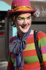 Choupette (Bo No Bo) Tags: city pink red urban orange green smile hat rose scarf d50 rouge outdoors day montral clown makeup vert jour qubec chapeau foulard extrieur sourire maquillage ville urbain plateaumontroyal choupette