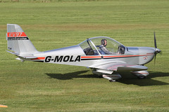 G-MOLA - 2012 build Aerotechnik/Cosmik EV-97 Eurostar, taxiing in at Barton (egcc) Tags: manchester eurostar barton microlight cityairport ev97 3937 cosmik aerotechnik teameurostar egcb rotax912 gmola