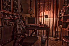 light in the room #1 (Francesco Perri) Tags: italy rome art colors k architecture night canon computer circle table eos lights chair asia europe desk guitar pavement library room group surreal tent shock workstation unreal tamron hdr lazio dreamers 40d