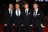 Jamie Hamblett, Josh Cuthbert, Jaymi Hensley and George Shelley of Union J James Bond Skyfall World Premiere held at the Royal Albert Hall- London