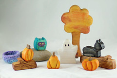 Two Raccoon Hollow (kris10dale) Tags: wood halloween waldorf woodentoy naturaltoy