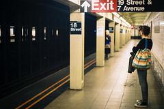 18th Street Station (Dominic Bugatto) Tags: newyorkcity analog subway manhattan streetphotography 35mmfilm 2012 fujis400 18street nikonf301slr nikone50mmf18ais