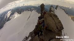 Gran Paradiso Summit, Italy (4 061m) (GlobeTrotter 2000) Tags: travel vacation italy panorama mountain snow france alps ice expedition sport alpes climb europe angle top extreme go wide peak grand fisheye adventure climbing alpine valley hero summit pro gran chamonix mont blanc paradis paradiso ascent alpinism rift alpinist gopro aost