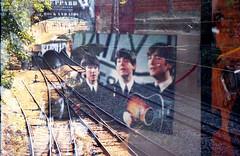 The Beatles vs Railway (Khnh Hmoong) Tags: film analog 35mm iso200 doubleexposure railway analogue thebeatles nikonfm filmswap kodakcolorplus200