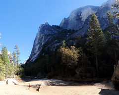 085 Half Dome From Mirror Lake (saschmitz_earthlink_net) Tags: california cliff forest mirrorlake granite halfdome yosemitenationalpark 2012 yosemitevalley ahwiyahpoint