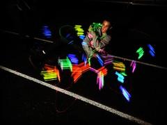 painted track (Ella.rose.budd) Tags: light lightpainting night colorful bright slowshutter lightgraffiti slowshutte