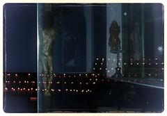 Maria Grn - Prater (hedbavny) Tags: vienna wien blue red reflection rot ava statue austria licht sterreich kerzenlicht fenster interieur jesus kirche kerze kreuz gelb blau spiegelung glas prater heilig kapelle gekreuzigter maigrn mariagrn jesusamkreuz