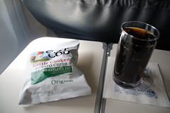 United Airlines Snack DEN - LAS (SomePhotosTakenByMe) Tags: unitedairlines ua snack businessclass coke cocacola chips food essen lebensmittel airline flugzeug flight flug usa unitedstates america amerika
