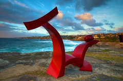 Sculpture 10 (Jo_Ross_01) Tags: beach water bondi clouds sunrise sydney beaches sculpturebythesea hdr sydneybeaches sculpturebythesea2012