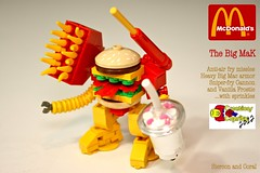 The Big MaK (Siercon and Coral) Tags: big mac lego burger frosty mcdonalds fries mak mech moc maktoberfest