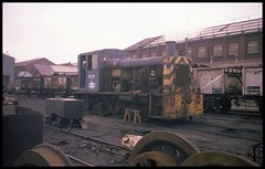 03137: Doncaster Works: 1977.12.04=0008 (Barnsfield) Tags: railway southyorkshire brel class03 03137 doncasterworks