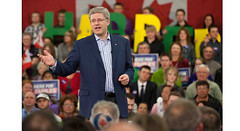 Prime Minister Stephen Harper outlines the Conservative low-tax plan for jobs and economic growth in Saskatoon.