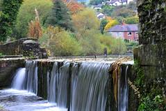Overflow (sab89) Tags: lake water wales waterfall slow overflow flintshire greenfields