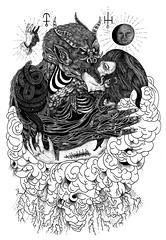 Genesis (Berje) Tags: blackandwhite art illustration weird eva demon bible genesis markers occultism newdarkage