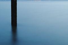 Mist (JessicaLynDavies) Tags: longexposure sea mist water night reflections pier fade remains