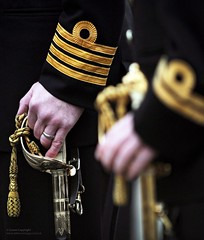 Royal Navy Officers (Defence Images) Tags: uk male gold scotland military free rings captain sword british sailor defense capt defence officer lt personnel lieutenant royalnavy ceremonial divisions submariners argyllbute nonidentifiable