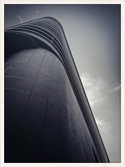 Swoosh - Pieces of Home 82 (-Faizal-) Tags: city sky urban blackandwhite bw black lines japan architecture clouds photography japanese design noir bright perspective  nara prometheus iphone  2013 nonhdr faizallalani iphoneography