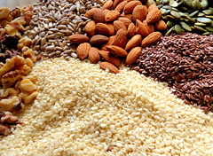 Eating Well (trueblvr1) Tags: food nuts walnuts seeds health almonds grains sesameseeds pumpkinseeds healthfood sunflowerseeds flaxseeds healthydiet