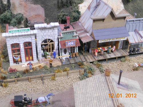 Model railroad train layout in HOn3 scale at Oklahoma City model train show 36th annual
